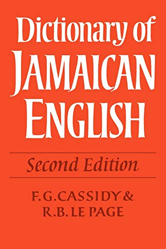 9780521118408: Dictionary of Jamaican English