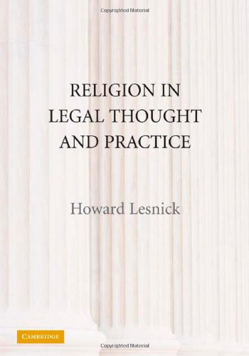 9780521119108: Religion in Legal Thought and Practice