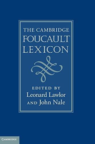 9780521119214: The Cambridge Foucault Lexicon