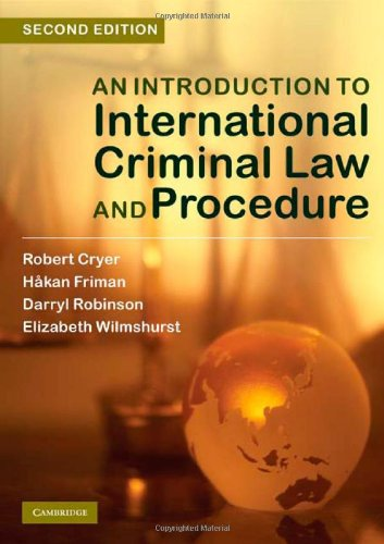 9780521119528: An Introduction to International Criminal Law and Procedure