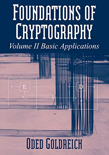 9780521119917: Foundations of Cryptography: Volume 2, Basic Applications Paperback