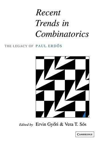 9780521120043: Recent Trends in Combinatorics Paperback