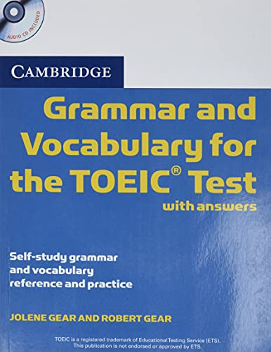9780521120067: Cambridge Grammar and Vocabulary for the TOEIC Test with Answers and Audio CDs (2): Self-study Grammar and Vocabulary Reference and Practice