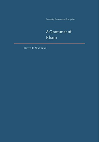 9780521120517: A Grammar of Kham (Cambridge Grammatical Descriptions)