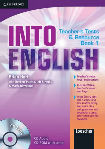 9780521122238: Into English Level 1 Teacher's Test and Resource Book with CD Extra Italian Edition: Level 1