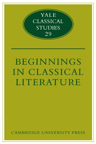 9780521124560: Beginnings in Classical Literature (Yale Classical Studies)
