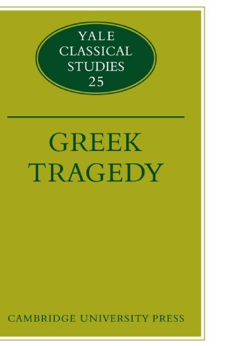 9780521124591: Greek Tragedy (Yale Classical Studies)