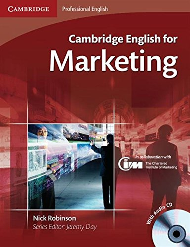 9780521124607: Cambridge English for Marketing Student's Book with Audio CD