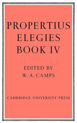 9780521125994: Propertius: Elegies Book 4
