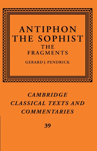 9780521126120: Antiphon the Sophist: The Fragments (Cambridge Classical Texts and Commentaries)