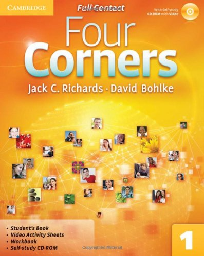 9780521126342: Four Corners Level 1 Full Contact with Self-study CD-ROM