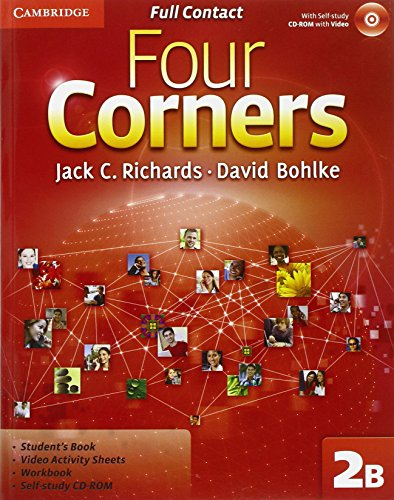 9780521126717: Four Corners Level 2 Full Contact B with Self-study CD-ROM