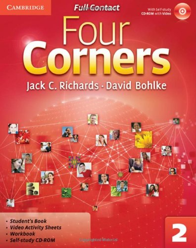 9780521126748: Four Corners Level 2 Full Contact with Self-study CD-ROM