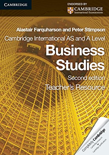 9780521126939: Cambridge International AS and A Level Business Studies Teacher's Resource CD-ROM (Cambridge International Examinations)