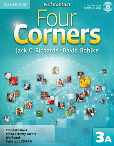 9780521127271: Four Corners Level 3 Full Contact A with Self-study CD-ROM