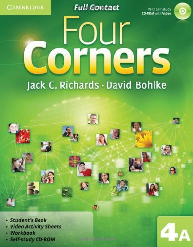9780521127585: Four Corners Level 4 Full Contact A with Self-study CD-ROM