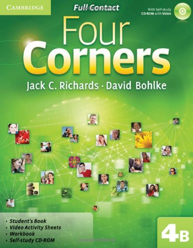 9780521127608: Four Corners Level 4 Full Contact B with Self-study CD-ROM