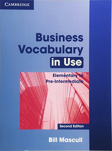 9780521128278: Business Vocabulary in Use Elementary to Pre-intermediate with answers (Cambridge International Corpus)