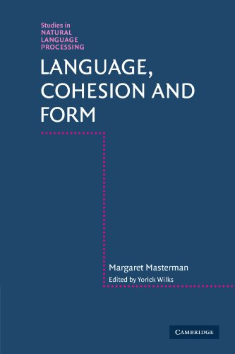 9780521129633: Language, Cohesion and Form (Studies in Natural Language Processing)