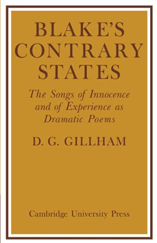 9780521129862: Blake's Contrary States: The 'Songs of Innocence and Experience' as Dramatic Poems