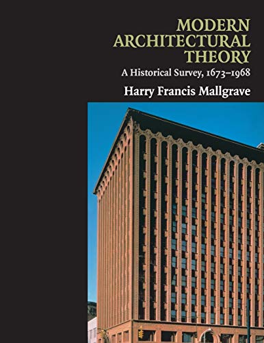 9780521130486: Modern Architectural Theory: A Historical Survey, 1673-1968