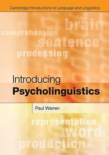 9780521130561: Introducing Psycholinguistics