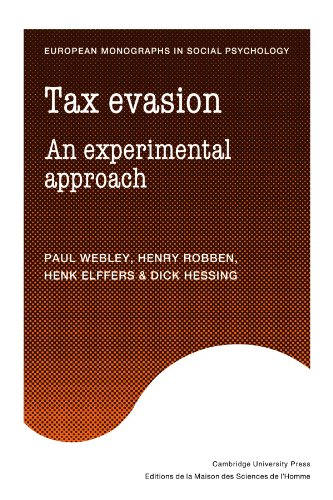 9780521130615: Tax Evasion: An Experimental Approach (European Monographs in Social Psychology)