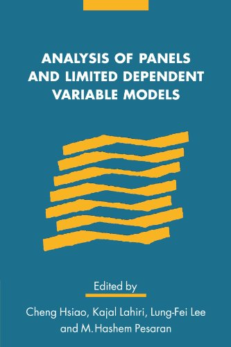 9780521131001: Analysis of Panels and Limited Dependent Variable Models Paperback