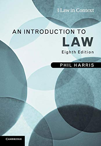 9780521132077: An Introduction to Law (Law in Context)