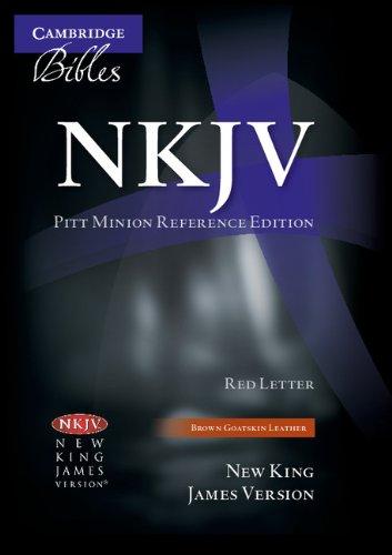 NKJV Pitt Minion Reference Edition NK446XR Brown Goatskin Leather
