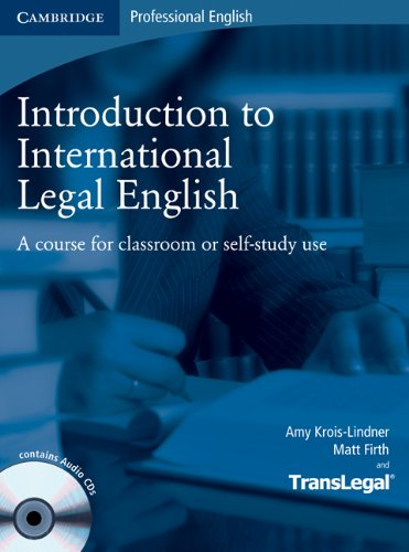 9780521132237: Introduction to International Legal English Student's Book with Audio CDs (2) and Glossary Pack Polish edition: A Course for Classroom or Self-study Use