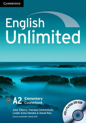 9780521132749: English Unlimited Elementary Coursebook with e-Portfolio CD-ROM and Workbook with answers and DVD-ROM Pack