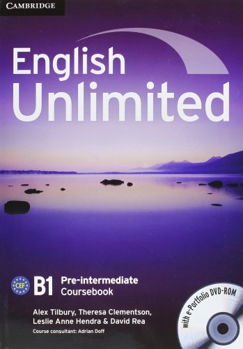 9780521132886: English unlimited. Pre-intermediate. Student's book without answer. Per le Scuole superiori. Con DVD-ROM. Con espansione online: 2
