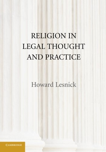 9780521134484: Religion in Legal Thought and Practice