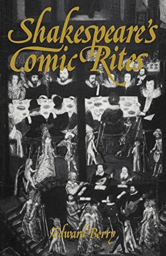 9780521134859: Shakespeare's Comic Rites