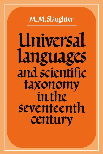 9780521135443: Universal Languages and Scientific Taxonomy in the Seventeenth Century