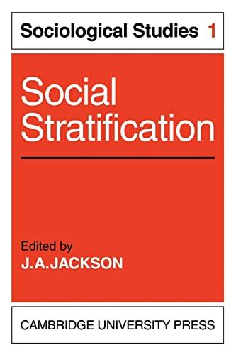 9780521136464: Social Stratification: Volume 1, Sociological Studies