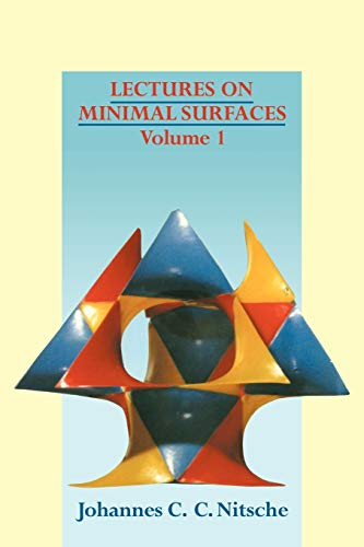 9780521137782: Lectures on Minimal Surfaces: Volume 1, Introduction, Fundamentals, Geometry and Basic Boundary Value Problems