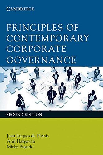9780521138031: Principles of Contemporary Corporate Governance