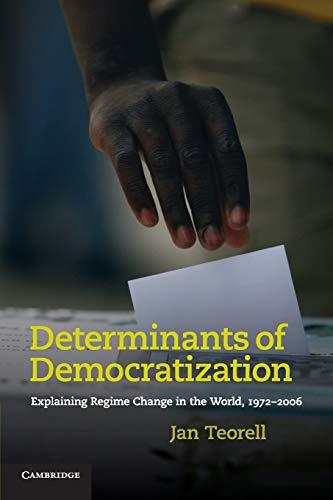 9780521139687: Determinants of Democratization: Explaining Regime Change in the World, 1972-2006