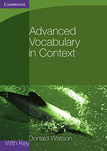 9780521140447: Advanced Vocabulary in Context with Key