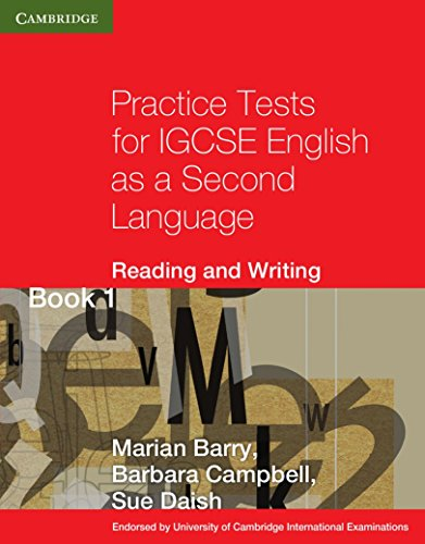 9780521140591: Practice Tests for IGCSE English as a Second Language Reading and Writing Book 1 (Cambridge International IGCSE)