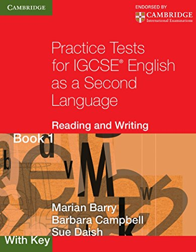 9780521140614: Practice Tests for IGCSE English as a Second Language: Reading and Writing Book 1, with Key (Cambridge International IGCSE)