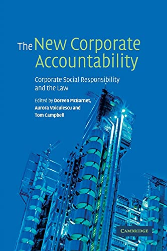 9780521142090: The New Corporate Accountability: Corporate Social Responsibility and the Law