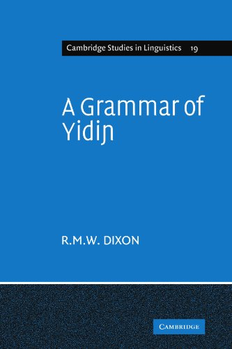 9780521142427: A Grammar of Yidin Paperback (Cambridge Studies in Linguistics)