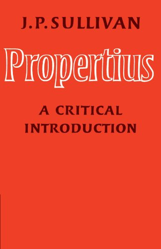9780521143097: Propertius: A Critical Introduction
