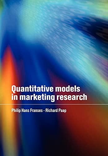 9780521143653: Quantitative Models in Marketing Research