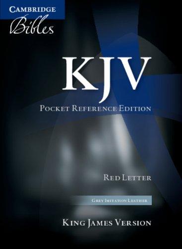 9780521146012: KJV Pocket Reference Edition KJ242:XR Dark Grey Imitation Leather