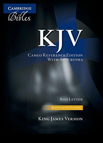 9780521146142: KJV Cameo Reference with Apocrypha Black Calf Split KJ453:XRA