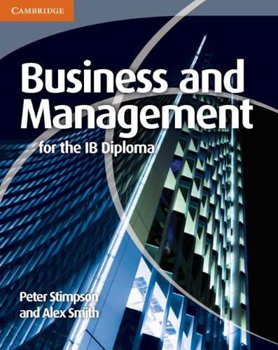 9780521147309: Business and Management for the IB Diploma